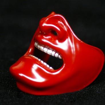 "001 SAMURAI MASK CHOKER ""A"" red (large)"