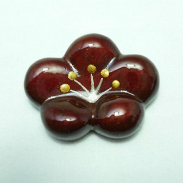 "011 CHOPSTICK REST ""WAGASHI"" UME red"